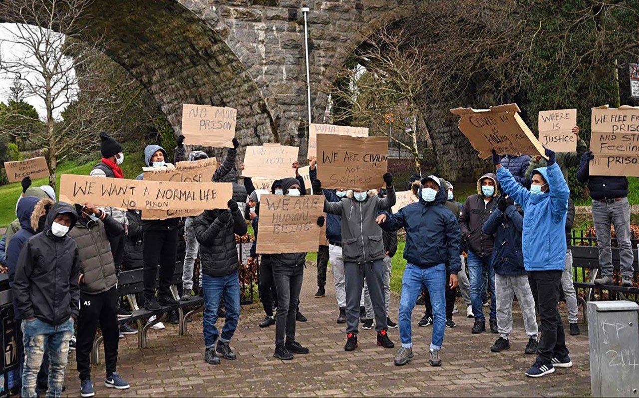Penally Barracks Protest
